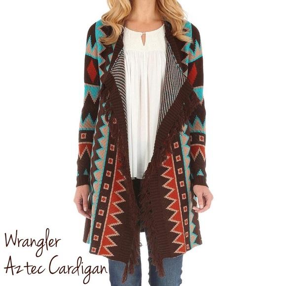 319644feff NEW Wrangler Aztec Cardigan With Fringe